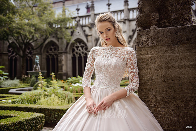 wedding dresses with long sleeves photo