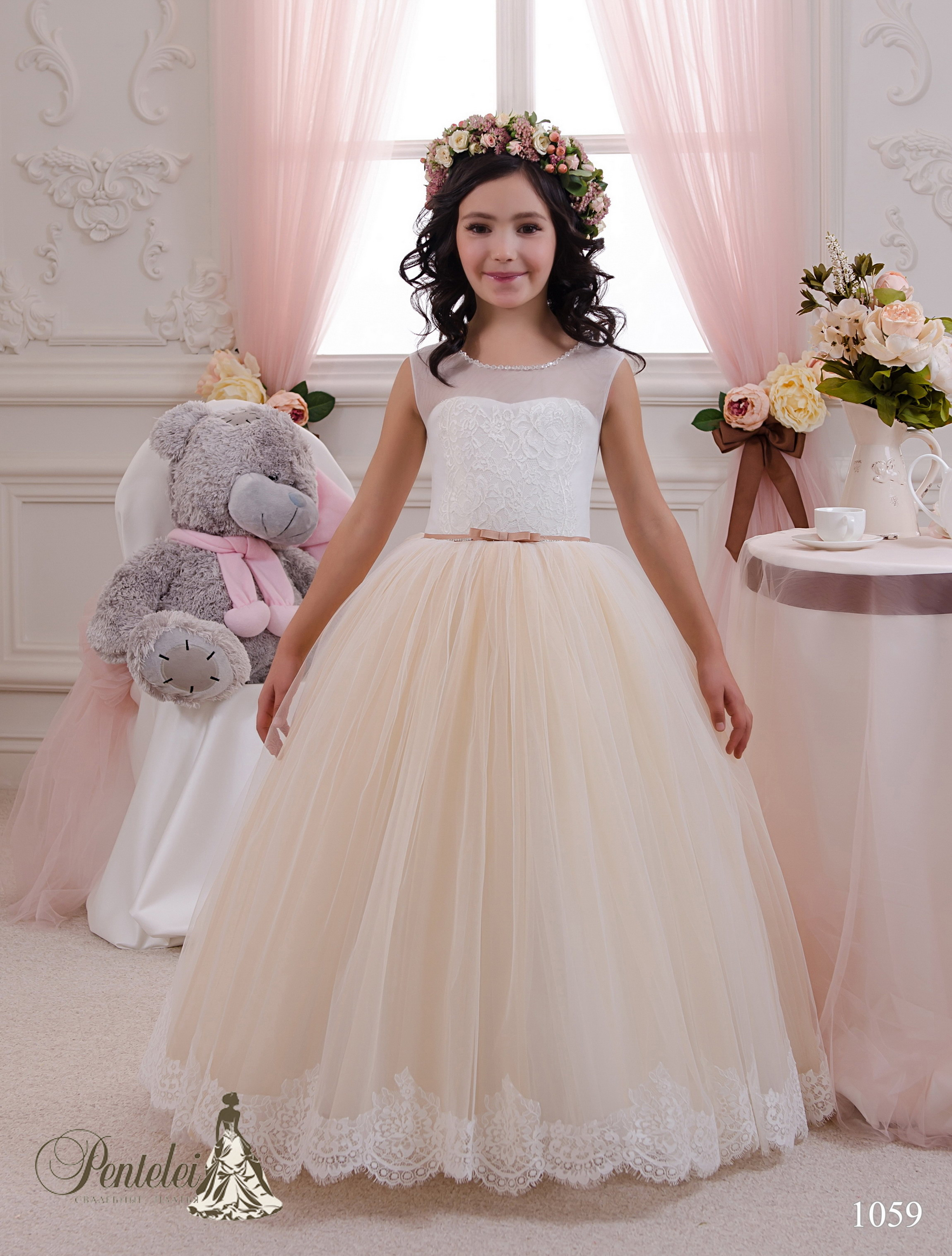 1059 | Купить детские платья оптом от Pentelei