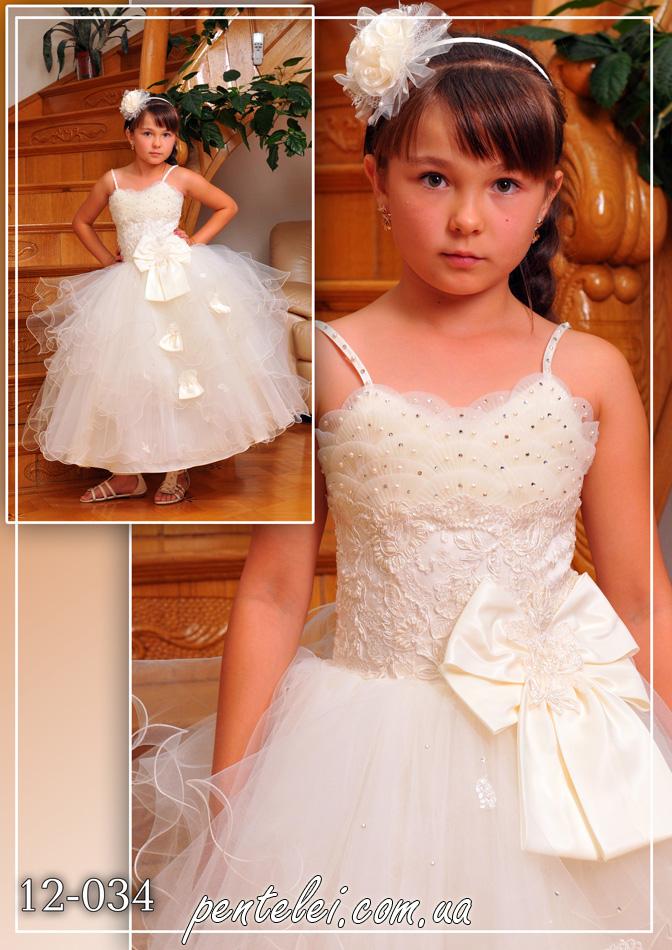 12-034 | Купити дитячі сукні оптом від Pentelei