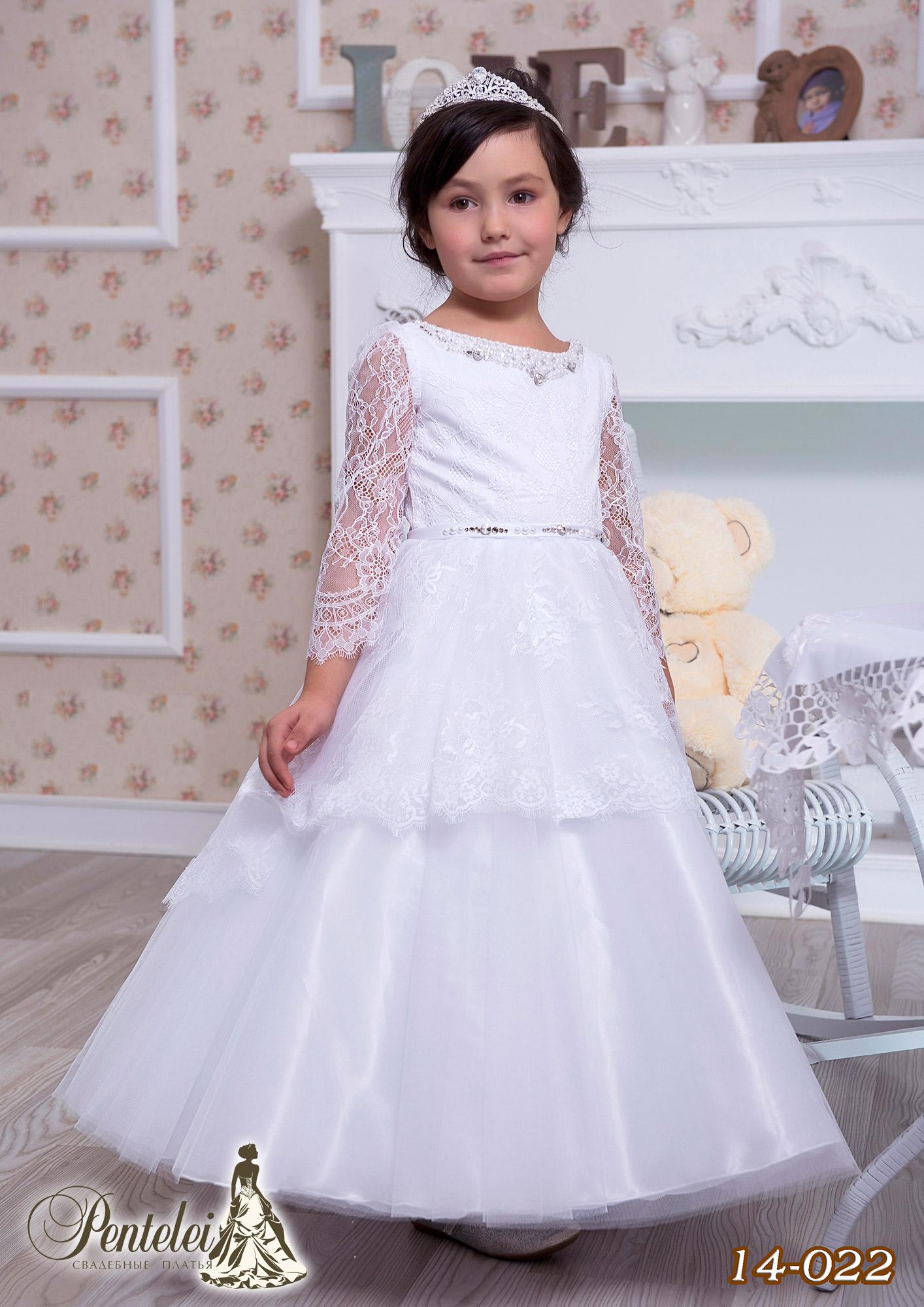 14-022   Купити дитячі сукні оптом від Pentelei
