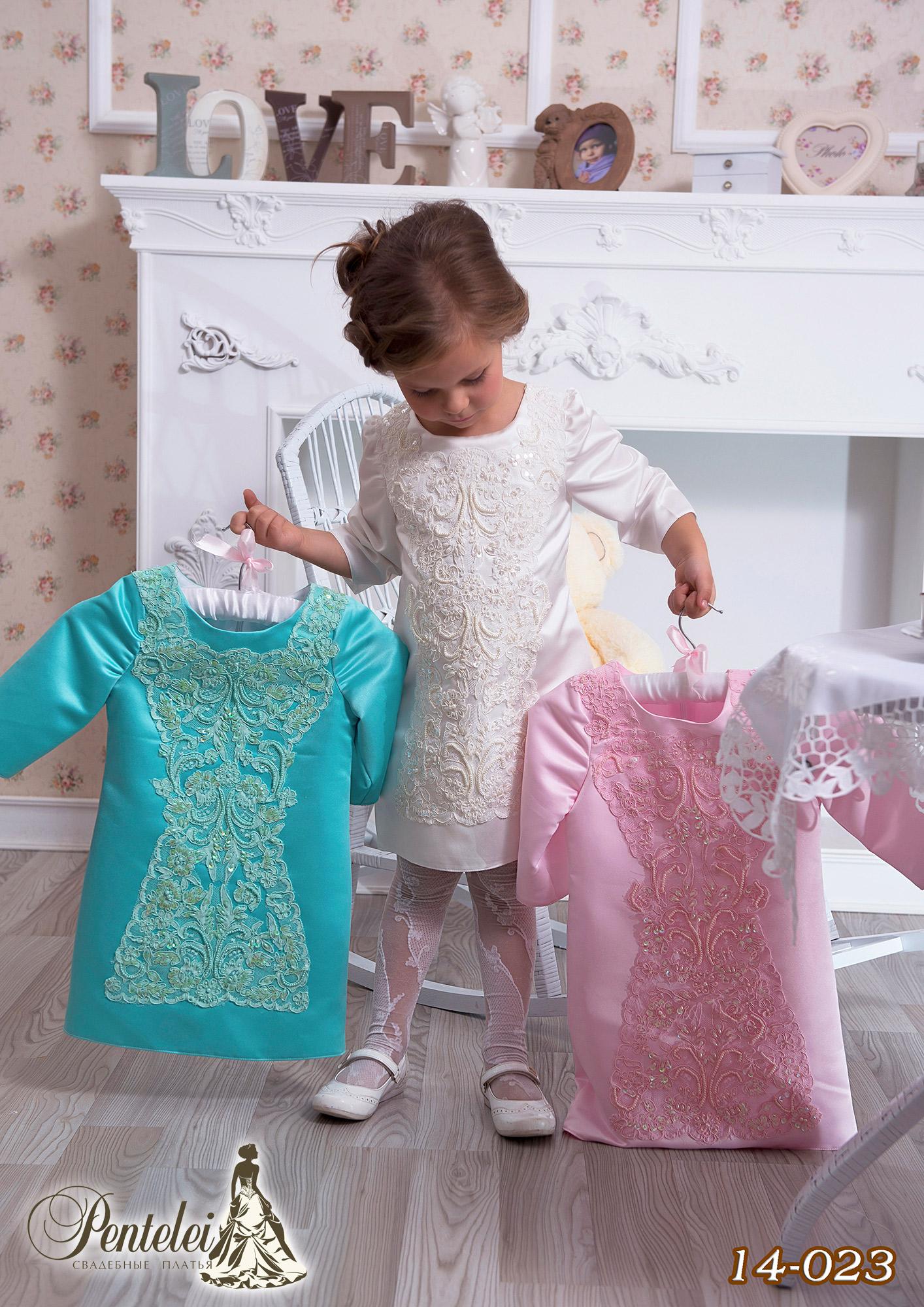 14-023 | Купити дитячі сукні оптом від Pentelei