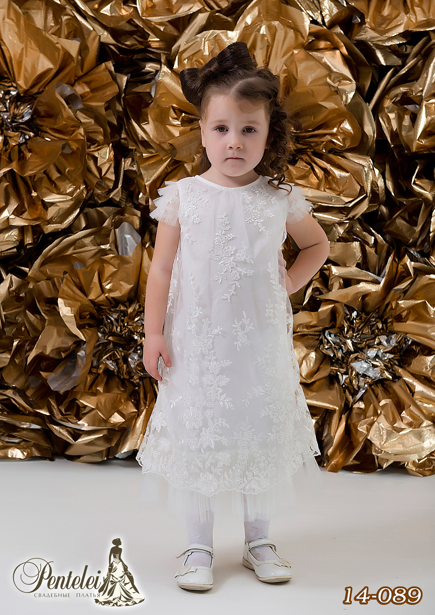 14-089   Купити дитячі сукні оптом від Pentelei