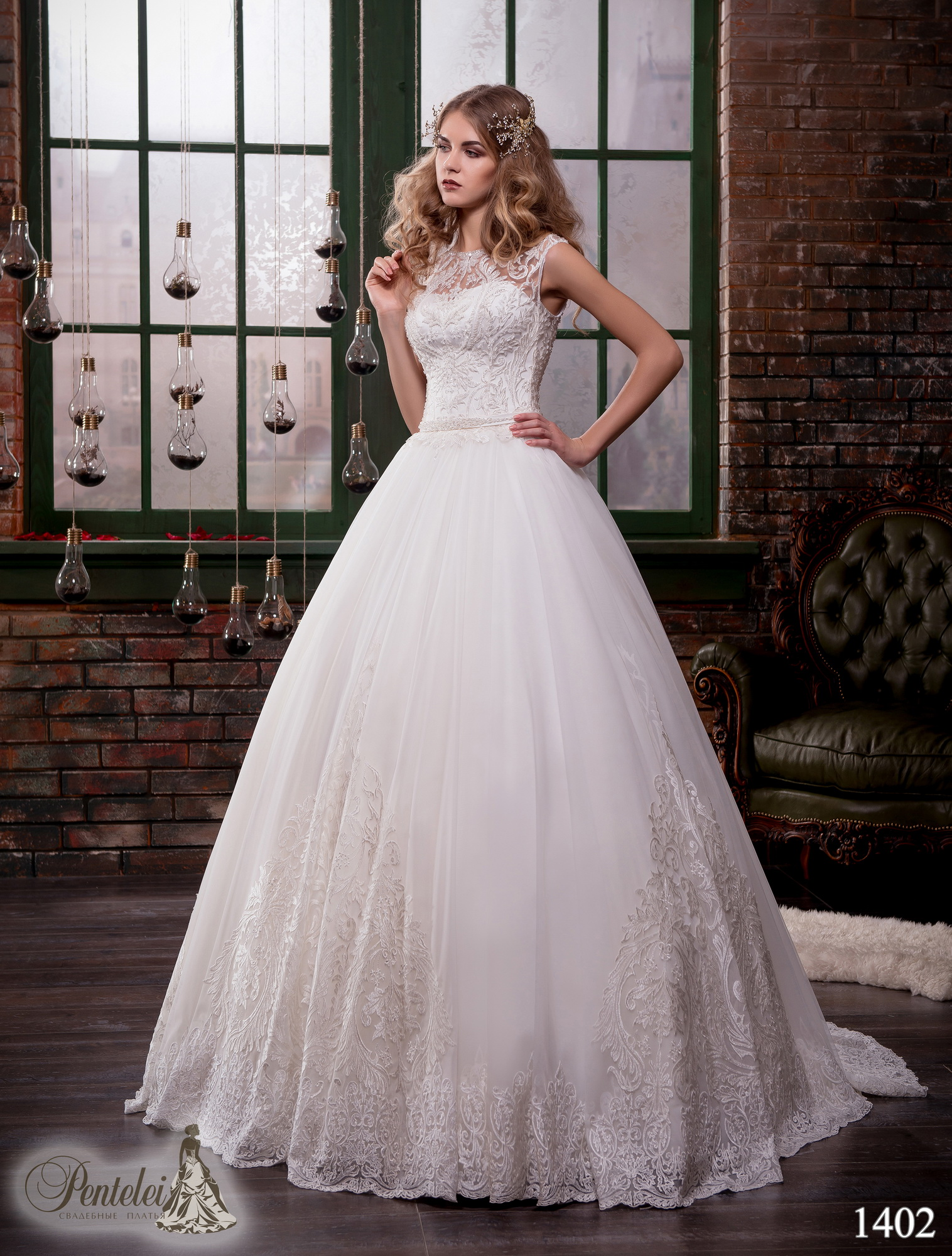 1402 | Купить свадебные платья оптом от Pentelei