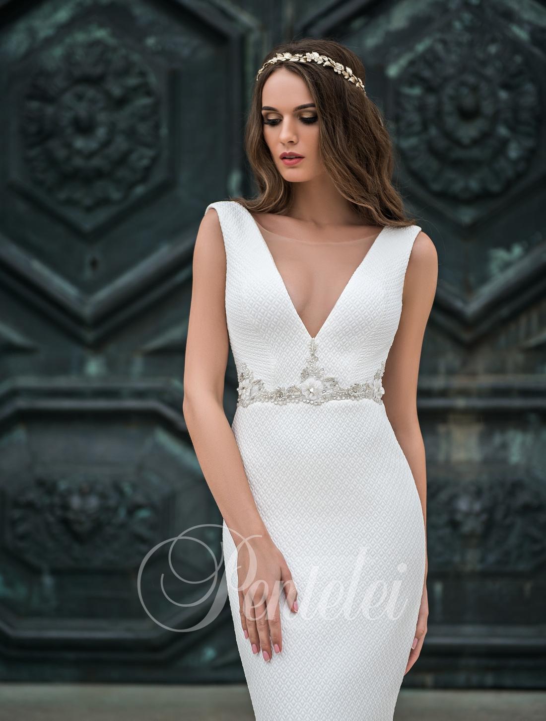 Элегантное свадебное платье фото