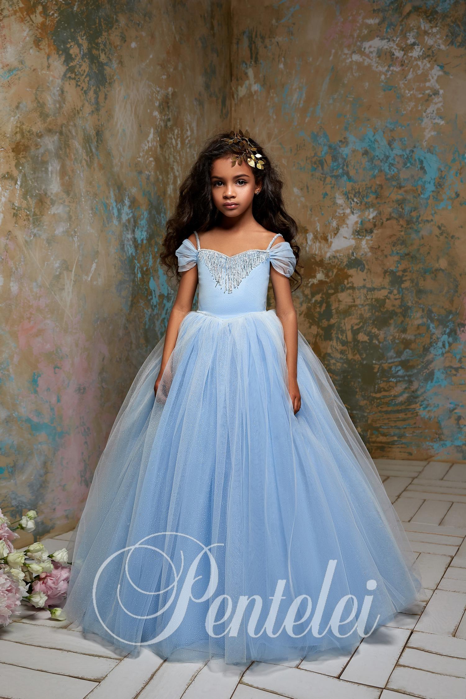 2fa5050da6c816 Пишні дитячі сукні з багатошаровою фатиновою спідницею оптом від ...