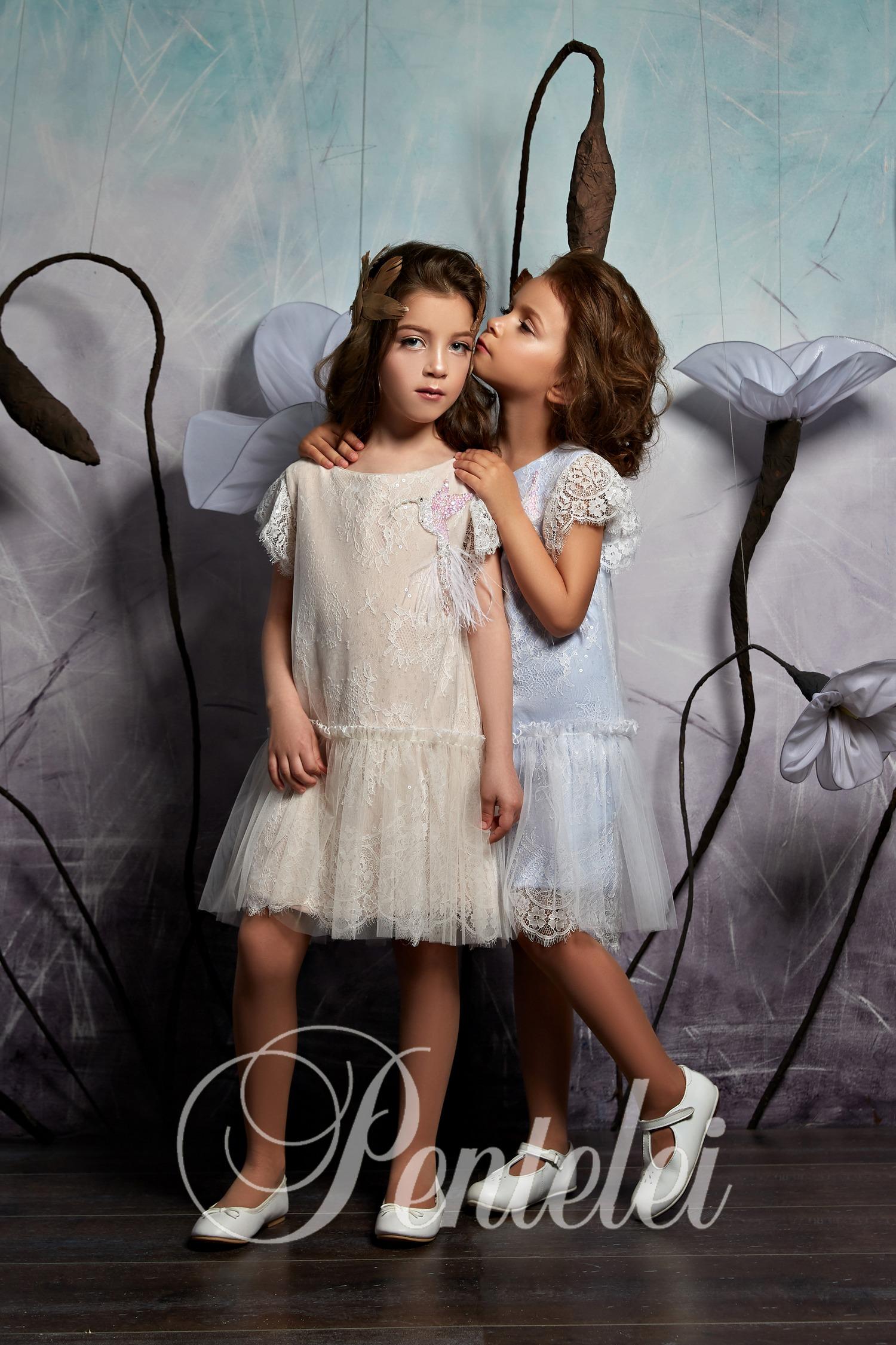 короткие нарядные детские платья оптом