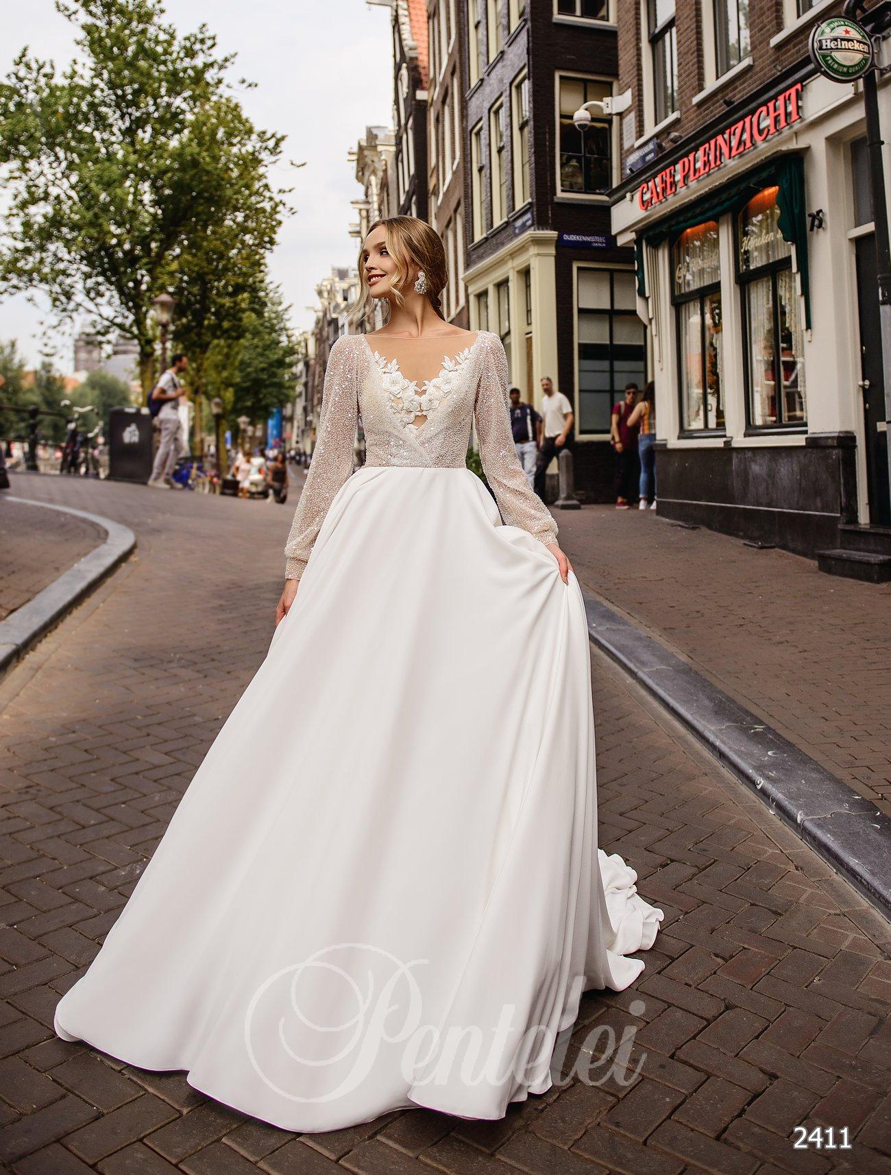 Свадебное платье с рукавами фото