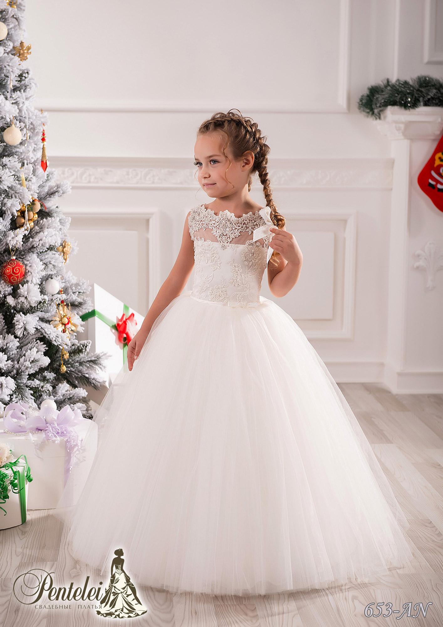 653-AN | Купити дитячі сукні оптом від Pentelei