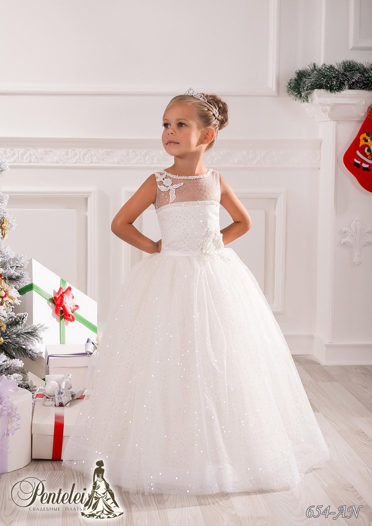 654-AN | Купити дитячі сукні оптом від Pentelei