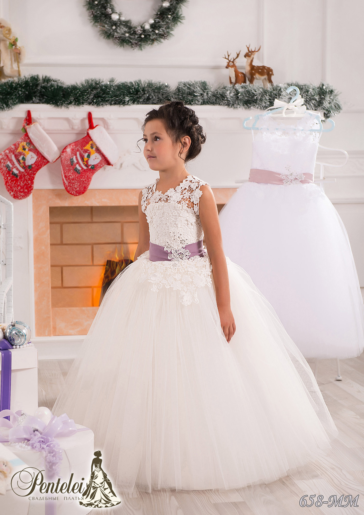 658-MM | Купити дитячі сукні оптом від Pentelei