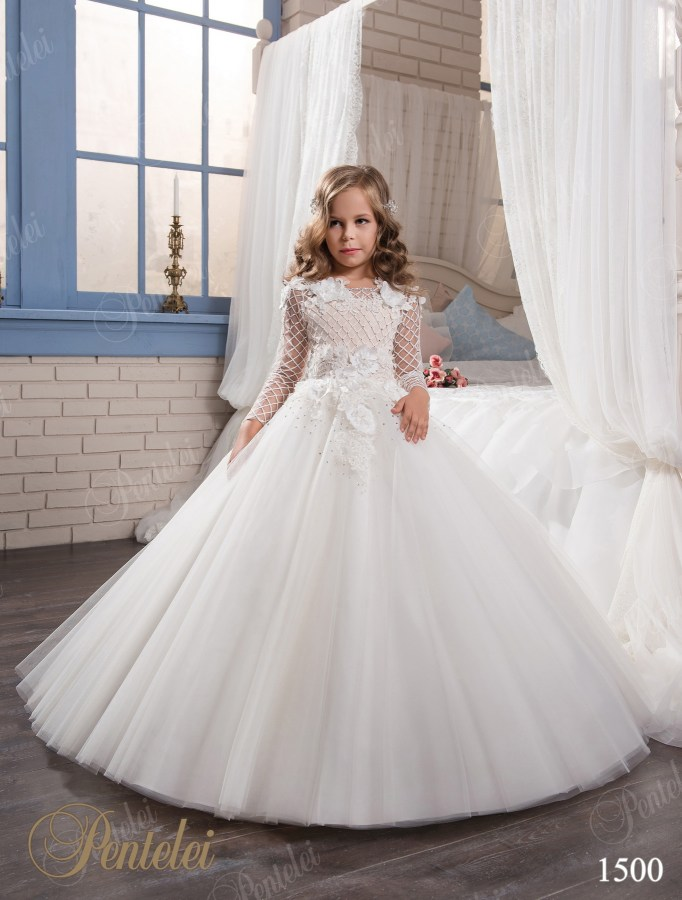 647a2169edc Princess silhouette wedding children s dress