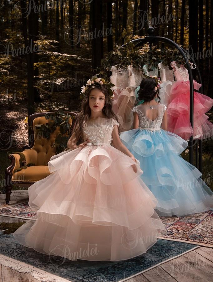 752c1a455e1548 Купити нарядні дитячі сукні оптом від виробника Pentelei