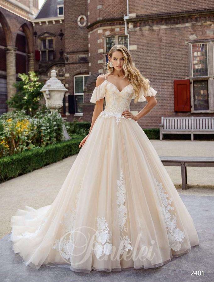 74ae4f18baf1f9 Весільна сукня з рюшами |Купити весільні сукні оптом від Pentelei