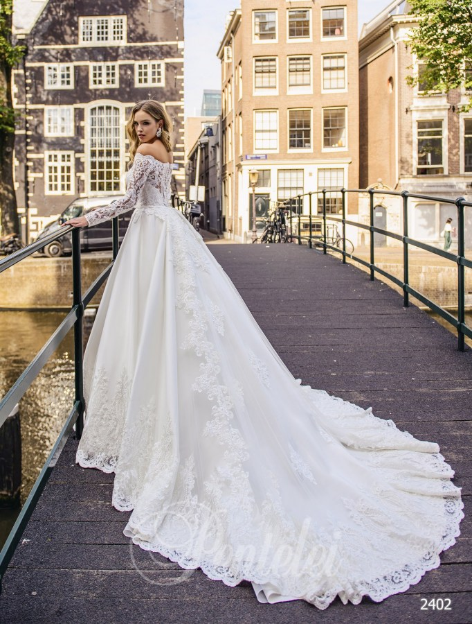 Lush wedding dress with sleeves | Buy wedding dresses wholesale from Pentelei