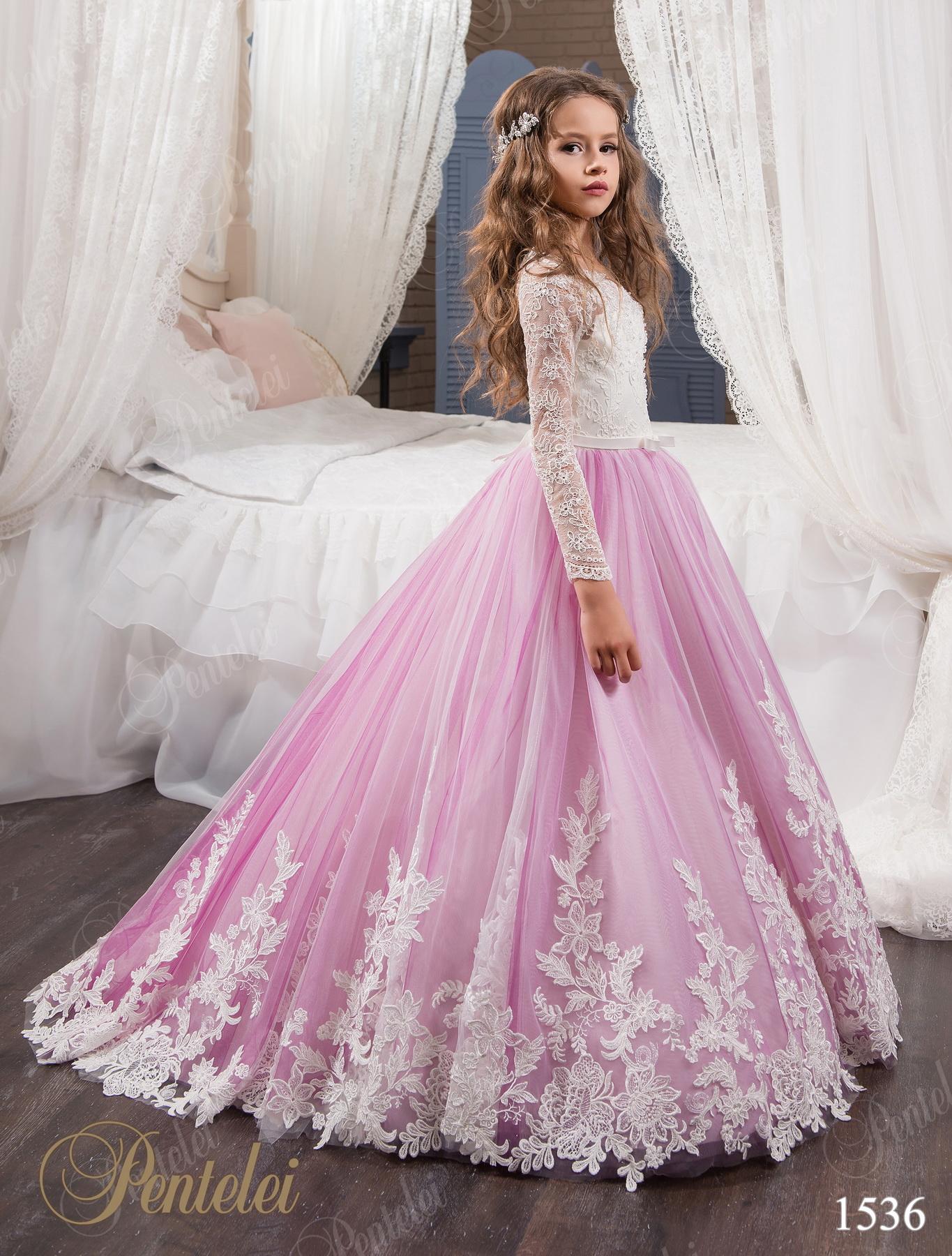 Дитяча сукня з гіпюру і фатину 02217c26ae7a2